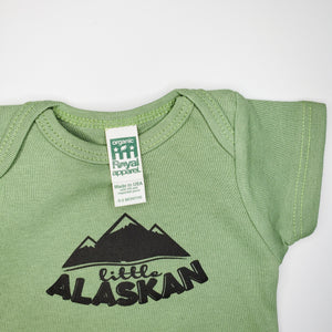 Baby Little Alaskan Logo Bodysuit | Green