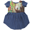 Size 5/6   Short Sleeve Upcycled Dress by Briar&Boone