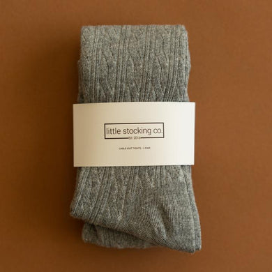 Cable Knit Tights by Little Stocking Co. | Gray