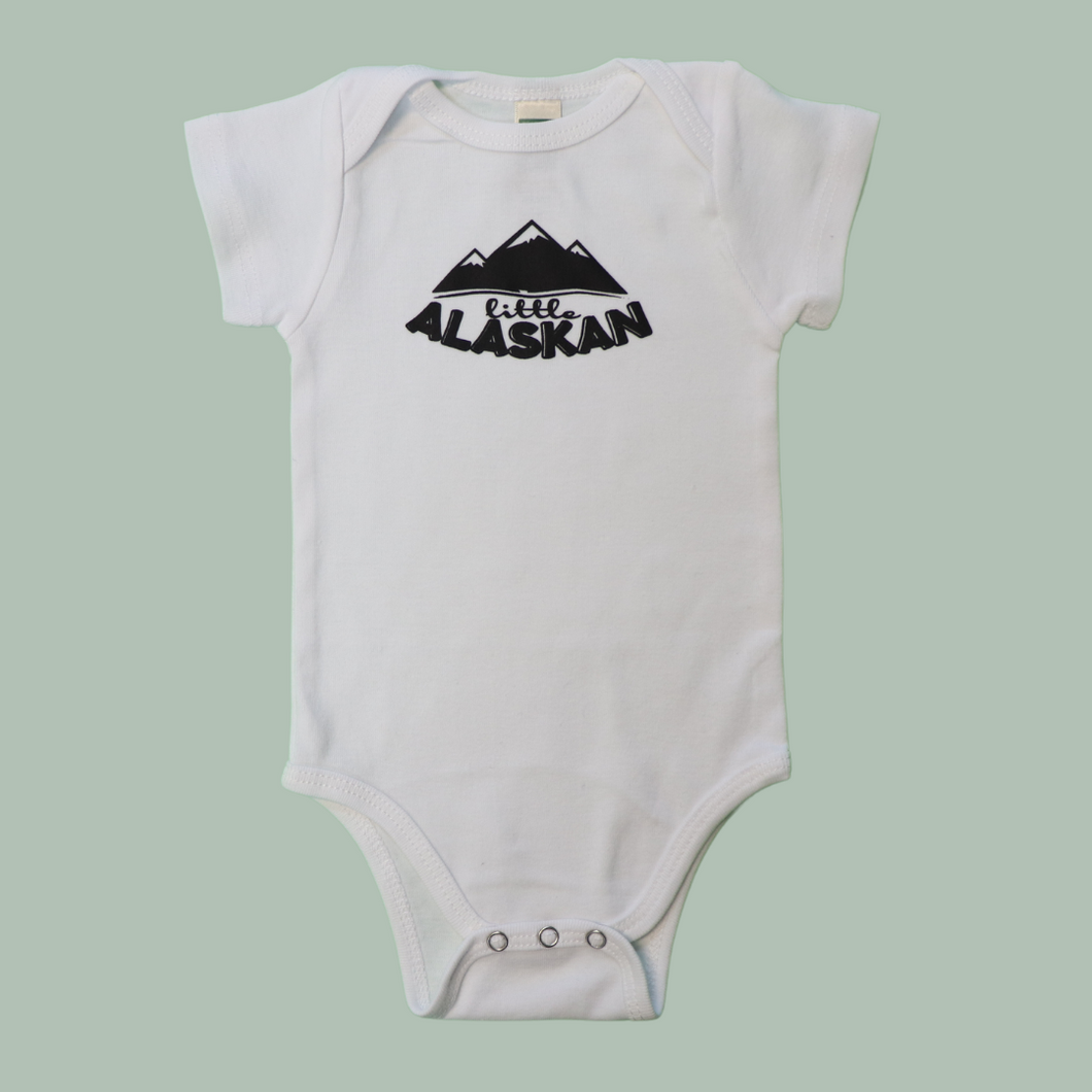 Baby Little Alaskan Logo Bodysuit | White