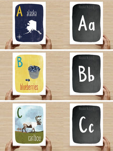 Alphabet Cards by Wren and the Raven | Alaska A to Z Extra Large