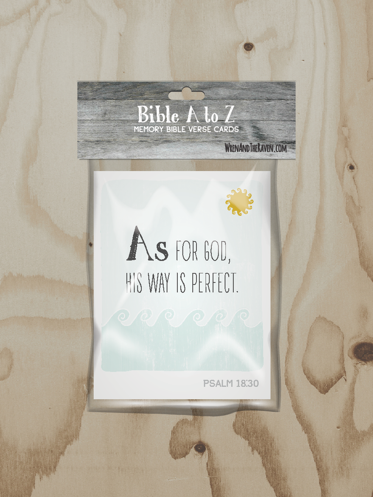 Bible A to Z Scripture Alphabet Cards