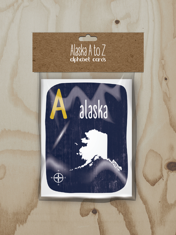 Alphabet Cards by Wren and the Raven | Alaska A to Z