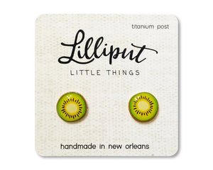 Stud Earrings by Lilliput Little Things | Kiwi Slice