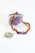 Necklace by Canyon Lead | Raw Cognac Amber + Raw Amethyst