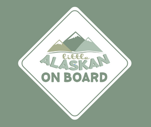 """Little Alaskan On Board"" Bumper Sticker"