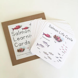 Learning Cards by Tiny Nest Studio | Salmon Life Cycle