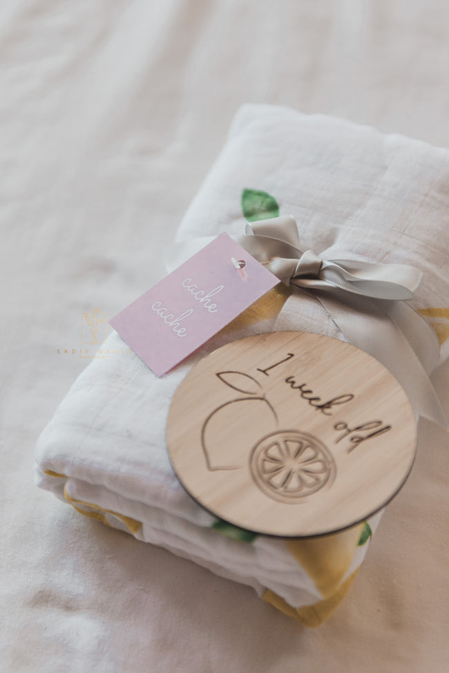 New Baby Pack - Full Set of Milestone Plaques and Pram Blanket