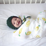 Traditional Organic Muslin Wrap - Lemon Love