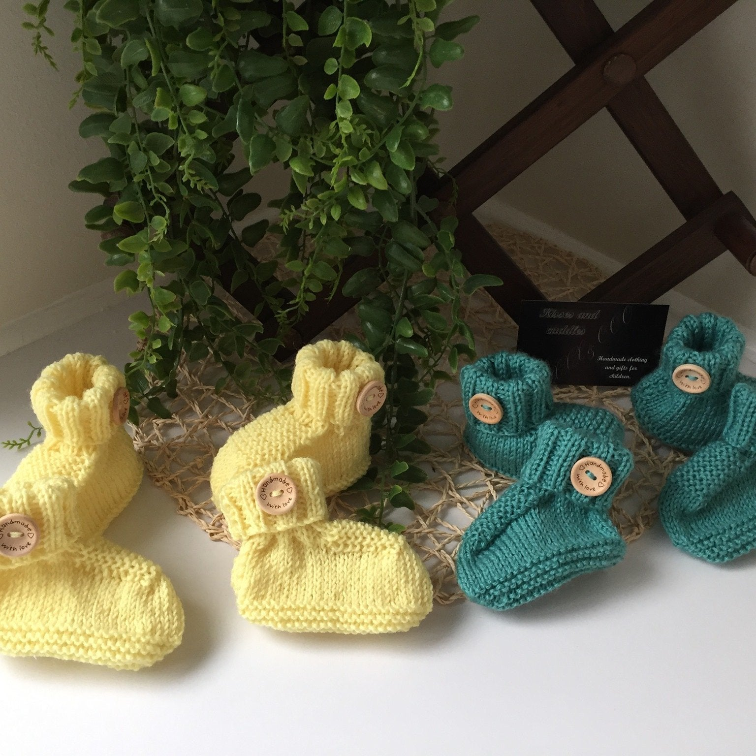 Knitted Bamboo Booties