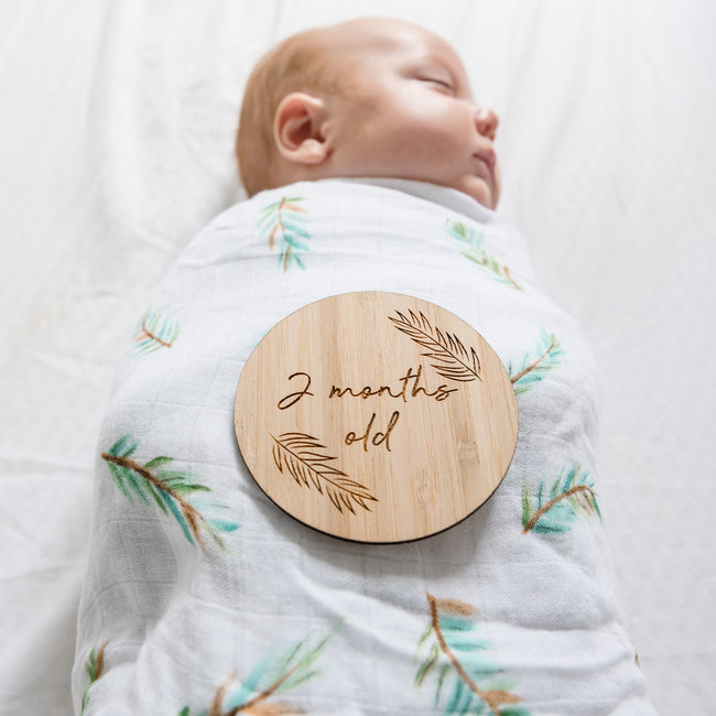 New Baby Pack - Milestone Plaques and Wrap
