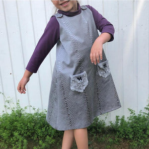 Karlssons Dungaree Dress Strl 62-164 PDF-mönster