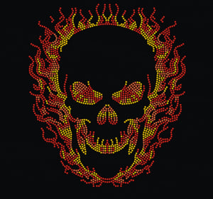 Strassapplikation Fire Skull