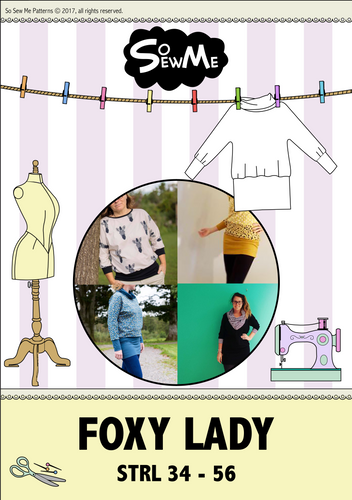 Foxy Lady strl 34-56 Pappersmönster