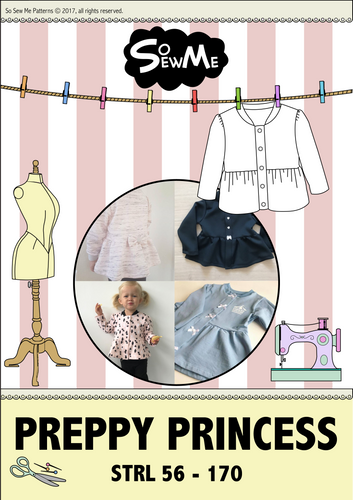 Preppy Princess Strl 56-170 Pappersmönster