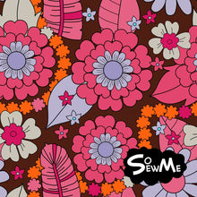 Hippie Flowers Brown/Pink Trikå/Jersey