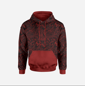Liquid Marble Deep Red Sweatshirt/College