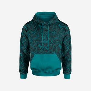 Liquid Marble Teal Sweatshirt/College