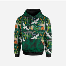Mystery Clouds Poison Green Sweatshirt/College
