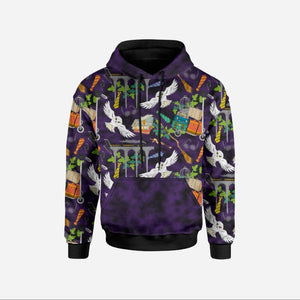 Night Owl Violet Sweatshirt/College