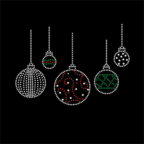 Strassapplikation Xmas Ornaments