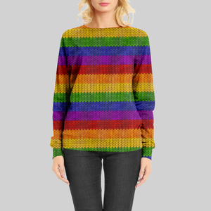 Chunky Knit Rainbow GOTS-Jogging/French Terry