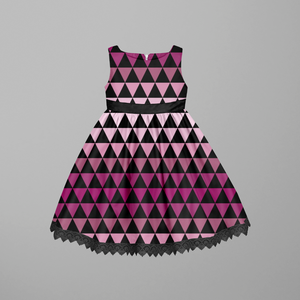 Gradient Triangles Pink GOTS-Jogging/French Terry FÖRHANDSBOKNING ROUND 8 2020