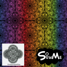 Emmas Rainbow Mandalas GOTS-Jogging/French Terry