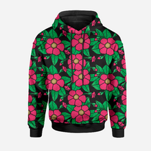 Chunky Flowers Black GOTS-Jogging/French Terry