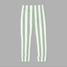 Vertical Stripes Dusty Mint/White GOTS-Trikå/Jersey