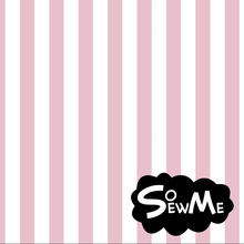 Vertical Stripes Pink/White GOTS-Trikå/Jersey