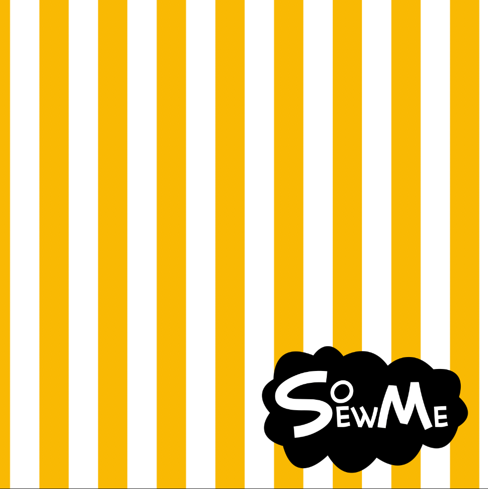 Vertical Stripes Yellow/White GOTS-Trikå/Jersey