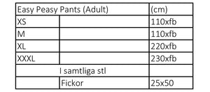 Easy Peasy Pants Adult strl XXS-XXXL PDF-mönster