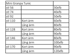 Mini Granpa Tunic Strl 56-170 PDF-mönster