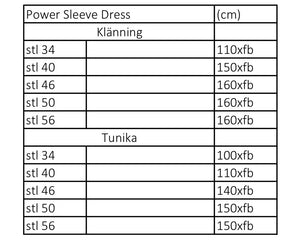 Power Sleeve Dress Strl 34-56 Pappersmönster