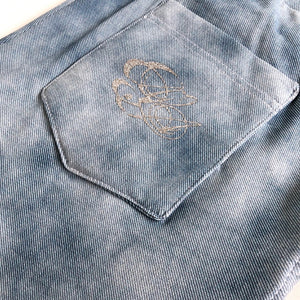 Denimlook Bleached Light Blue Öglad Jogging