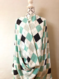 Argyle Mint Sweatshirt/College