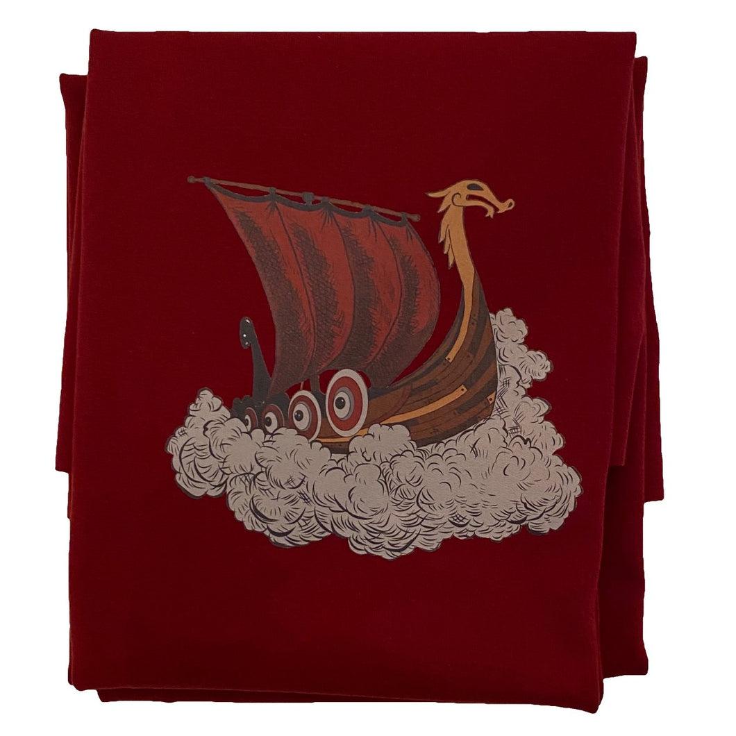 Barnpanel Vikingaskepp Wine Red Öglad Jogging