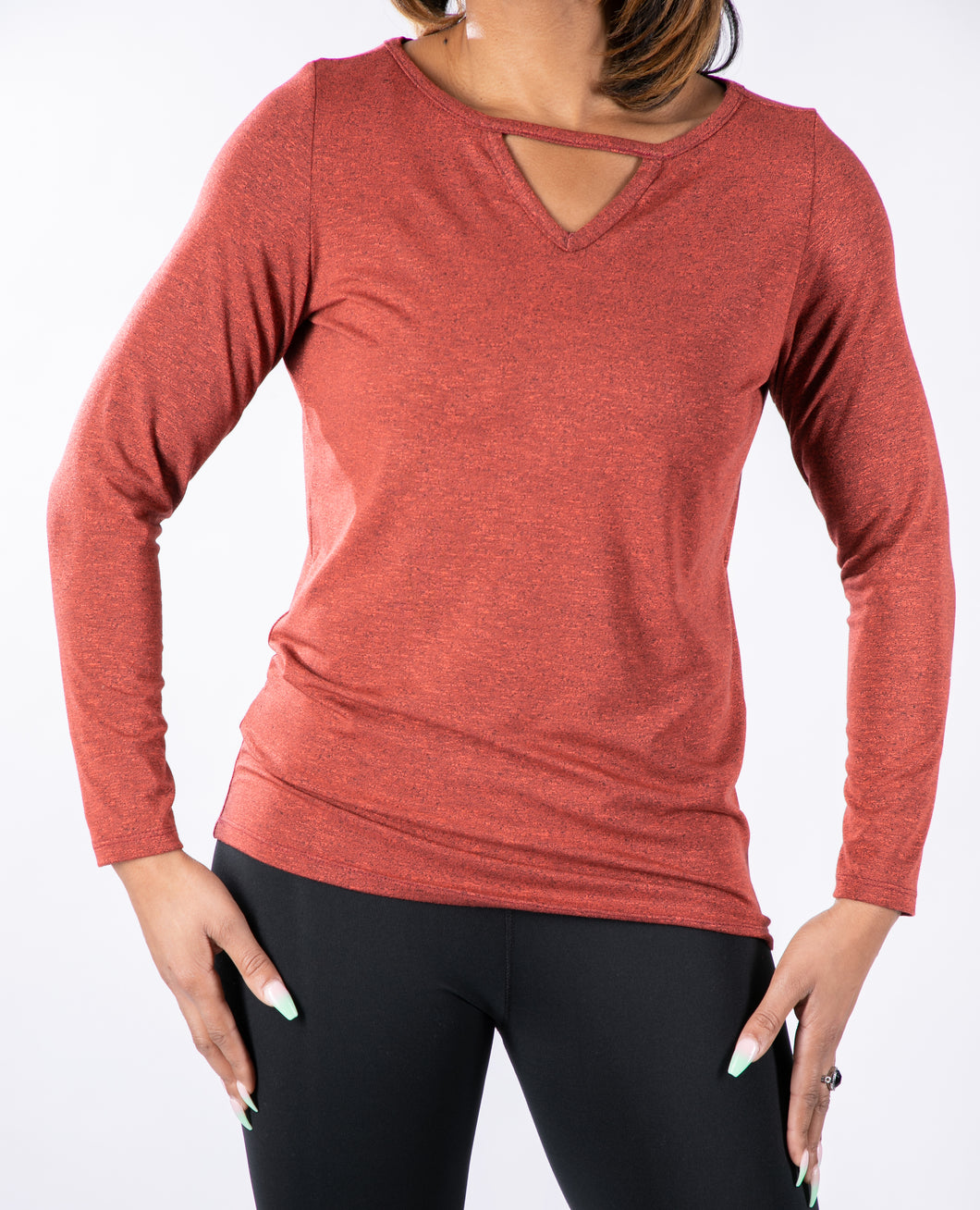Top, boatneck with V-detail