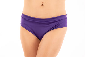 Bikini, banded with scrunch-back, Purple