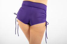 Booty shorts, high-waist, side-tie booty shorts, Purple