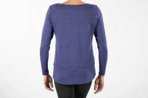 Top, long-sleeve boat-neck