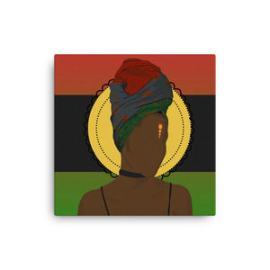 Head Wrapped Lady Canvas