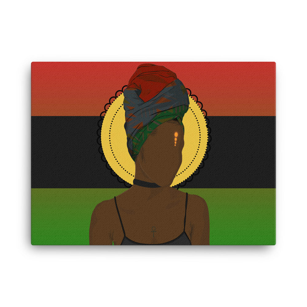 Pan African Queen Canvas