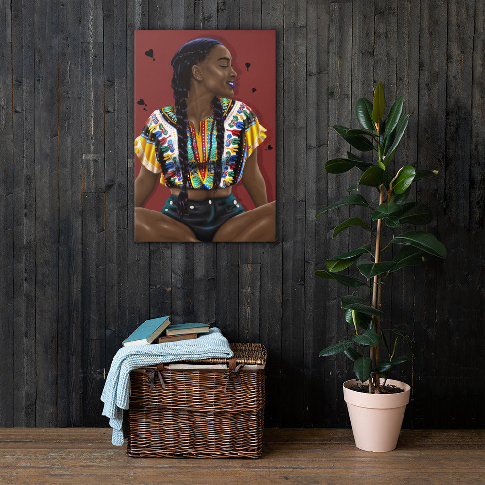 Dashiki Meditation Canvas