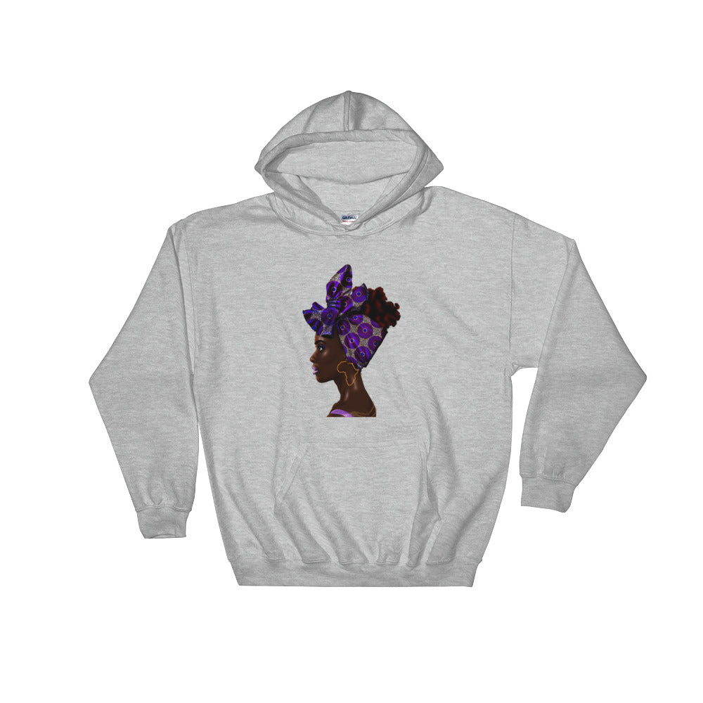 Purple Head Wrap Hoodie