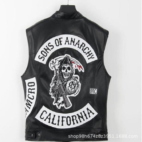 Sons Of Anarchy Embroidery Leather Vest