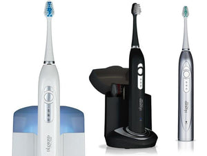 Diamond Pro Ultrasonic Toothbrush & UV Brush Head Sanitizer