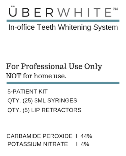 ÜberWhite In-Office Professional Teeth Whitening System I 25 Syringe Kit