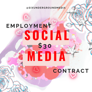 Bundle | Influencer Agreement X Social Media Employment Template